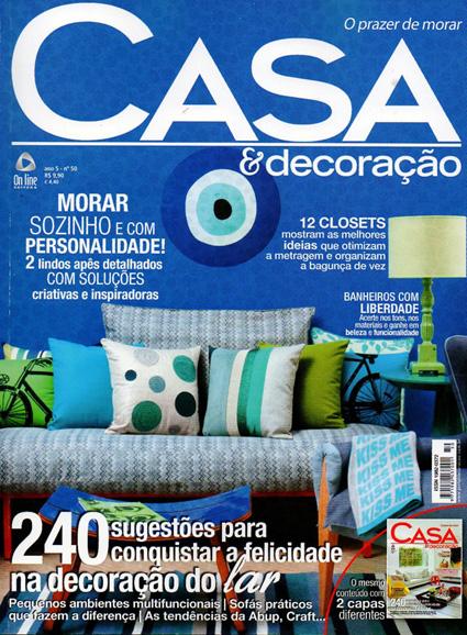 revista decoracao de interiores apartamentos:Revista Casa e Decoração