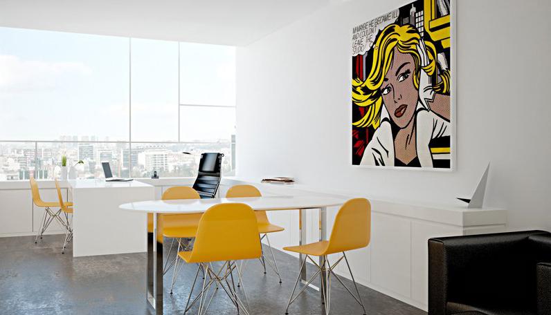 decoracao de interiores ambientes pequenos:Até nos ambientes mais formais o amarelo vai bem na hora de decorar