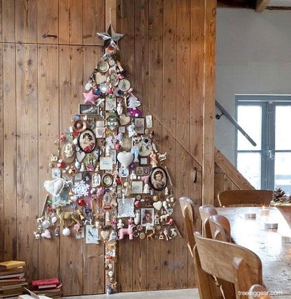 ideias criativas de decoracao de interiores:Idéias Criativas para Decorar Árvores de Natal