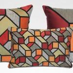 Almofadas geométricas na decoração