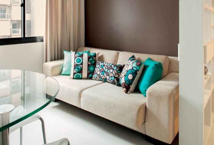 Almofadas Para Sala De Tv ~  almofadas de cores que já estejam presentas no ambiente e suas