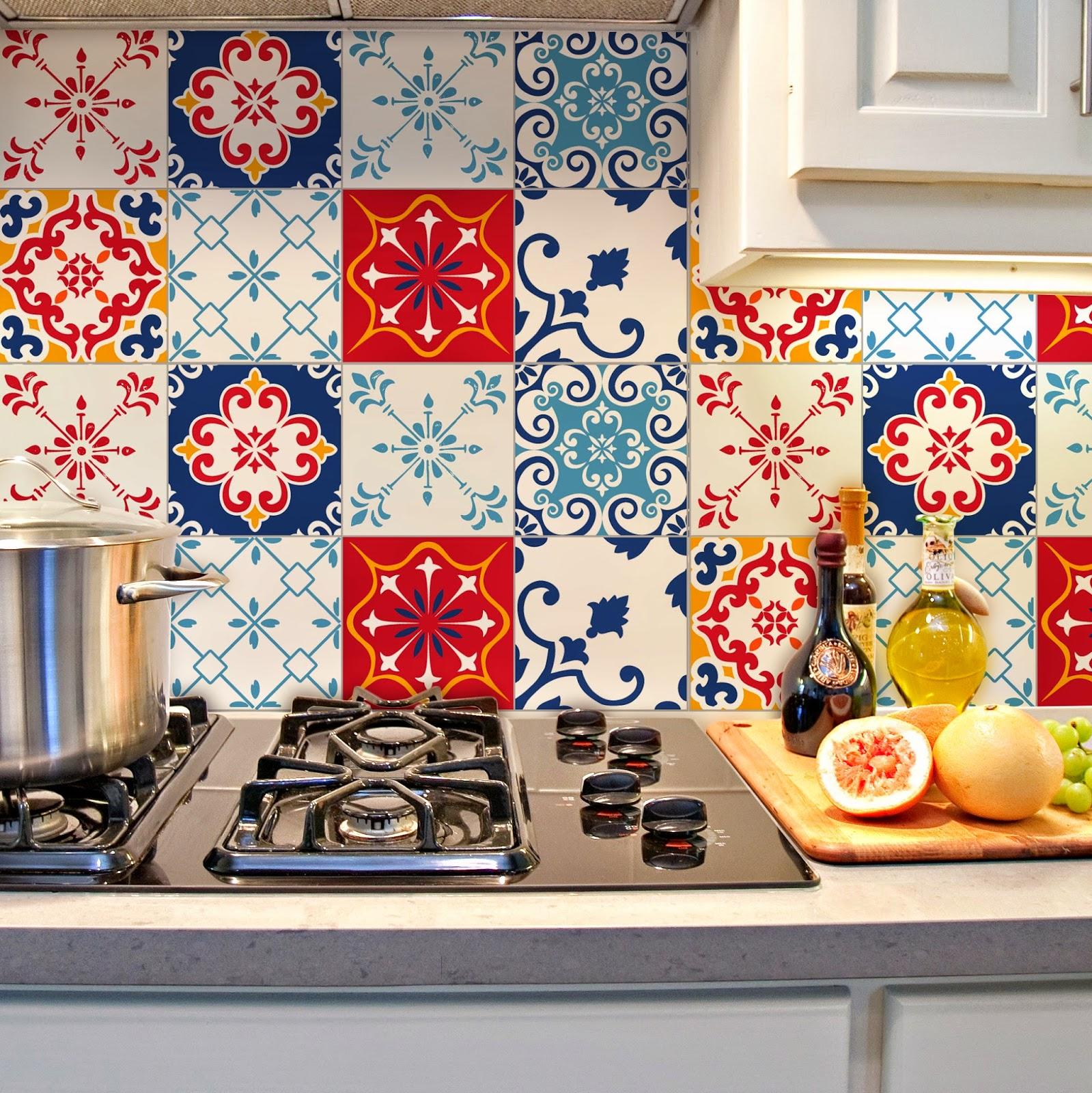 Azulejos Decorados para sua Cozinha Dicas Decoração Casa  #B7141A 1599x1600 Azulejo Para Banheiro Decorado