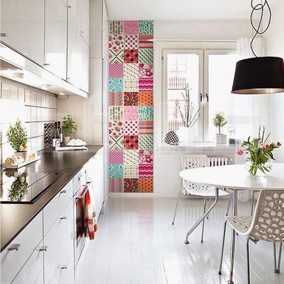 Azulejos Decorados para sua Cozinha  Dicas Decoração Casa # Azulejo Cozinha Horizontal