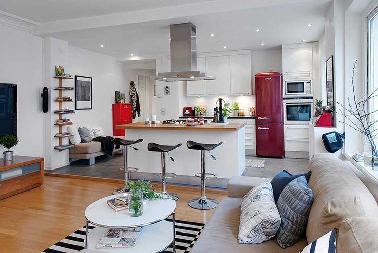 decorar uma cozinha:Cozinha Americana: Dicas para Decorar