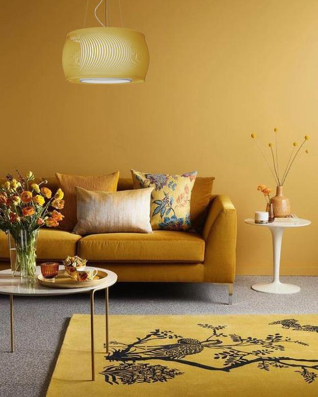 almofada sala eólica amarela
