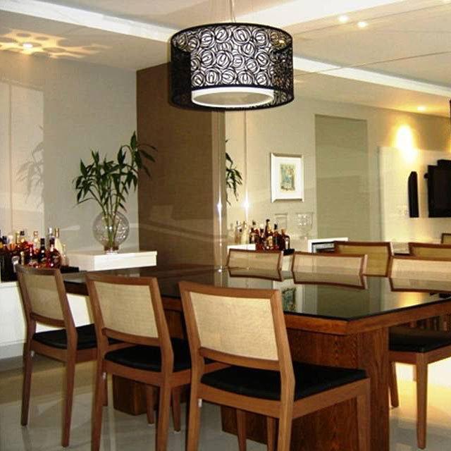 Luminaria Preta Sala De Jantar
