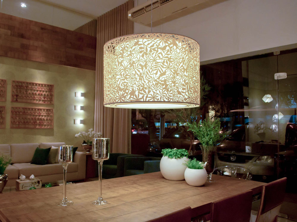 sala de jantar (luminária pássaros) art maison Art Maison